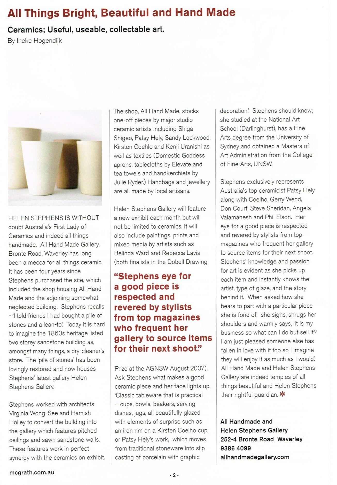 McGrath Magazine Feature